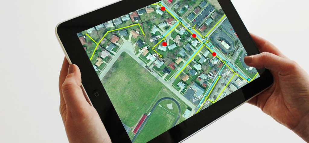 Map on a tablet