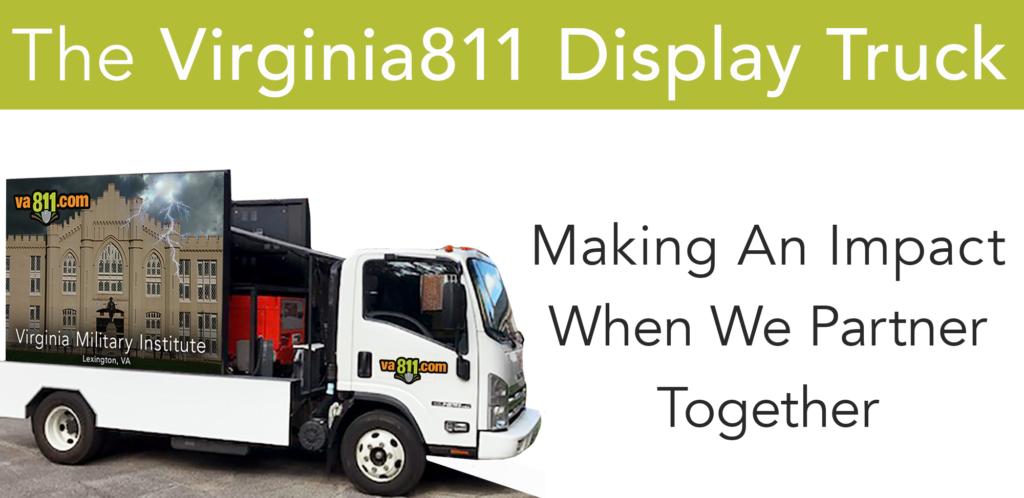 Virginia 811 display truck