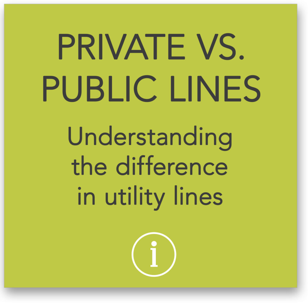 Understanding the difference in utility lines