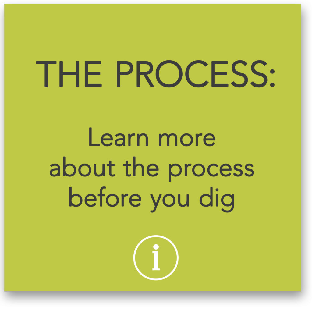 Learn about the process before you dig